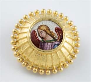 Elizabeth Locke 19k micro mosaic brooch