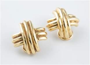Tiffany & Co. 18k X earrings.