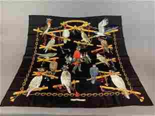 """Hermes """"Les Oiseaux Du Roy"""" silk scarf."""