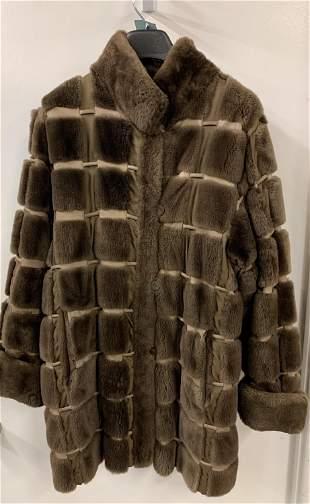 Reversible fur coat.
