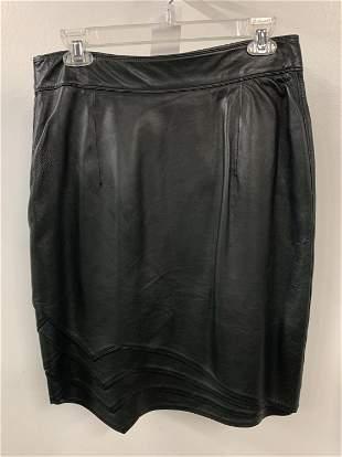 Gianni Versace leather skirt