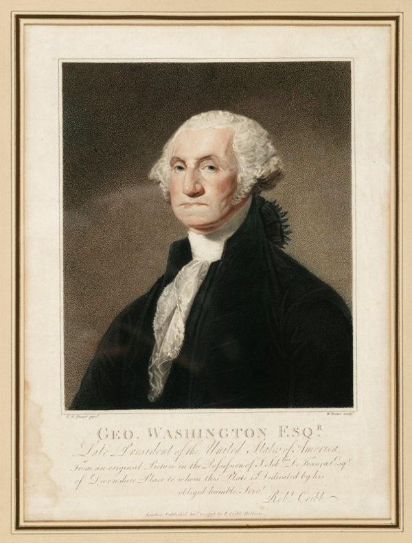 1001: [Americana] after Gilbert Stuart. Geo. Washington