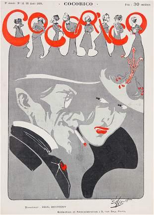 Cororico. 13 Covers of this French magazine, illu