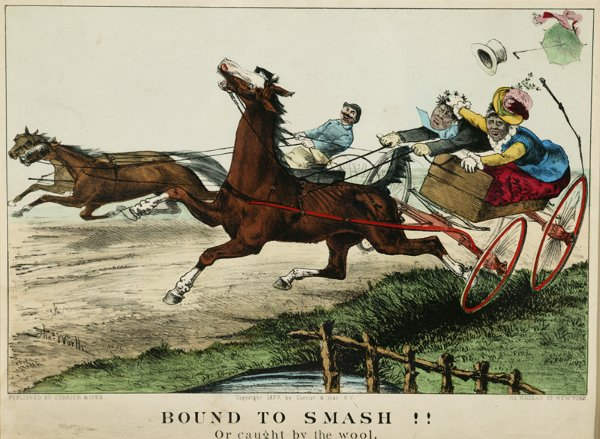 1004: Currier & Ives. Bound To Smash!! Or caught by the