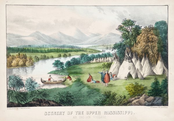 1005: Currier & Ives. Scenery Of The Upper Mississippi.