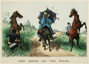 Currier & Ives. The Boss Of The Road. 1877. Color
