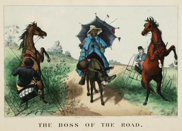 1006: Currier & Ives. The Boss Of The Road. 1877. Color