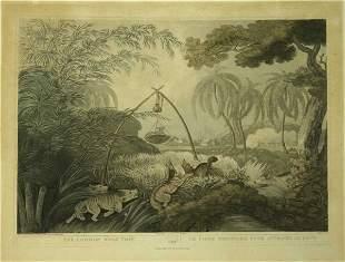 [Hunting]. 3 color aquatints by Samuel Howett aft