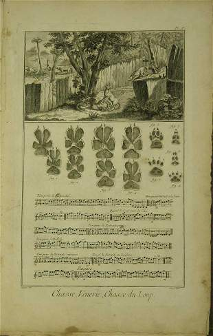 [Hunting]. 6 Engraved Plates from Diderot's Encyc