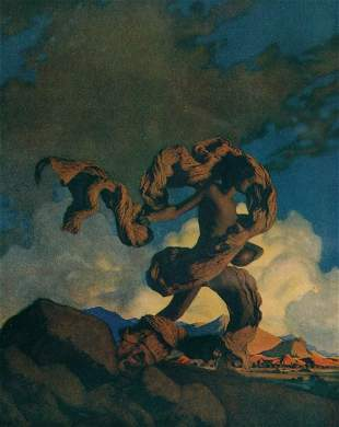 Parrish, Maxfield. Cadmus Sowing The Dragon's Tee
