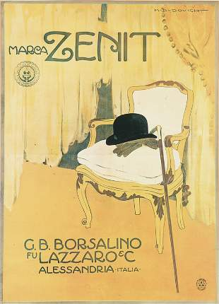 [Poster]. Dudovich, M. Marca Zenit G.B. Borsalino