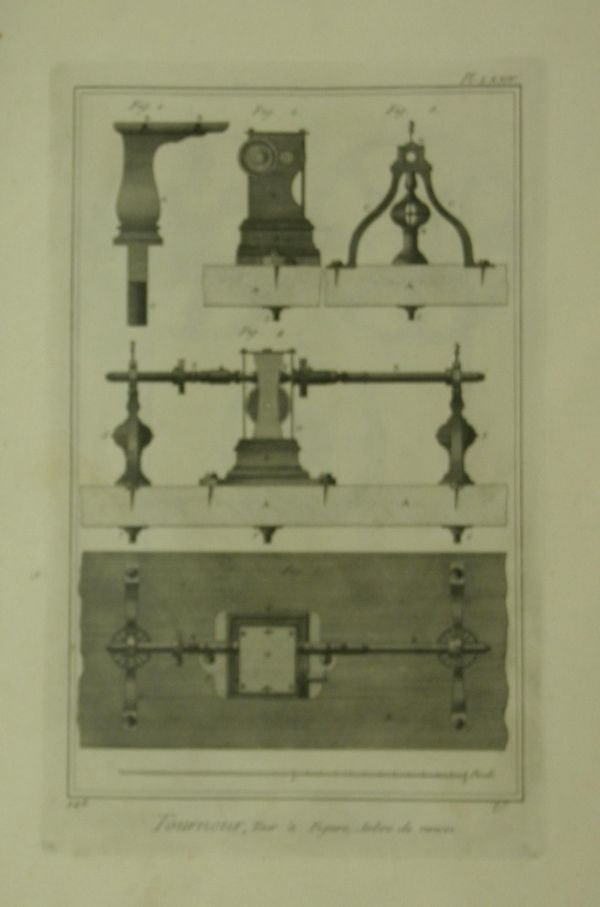 1018: [Technology]. 10 engraved plates from Diderot's E