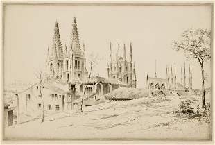 Arms, John Taylor (Am. 1887-1953). Burgos (a Span