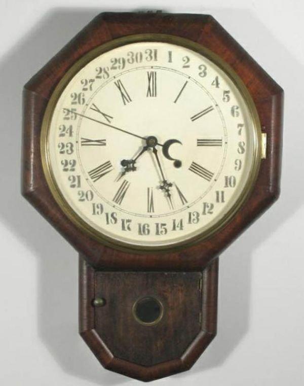 352: William Gilbert Octagon Drop Calendar Clock