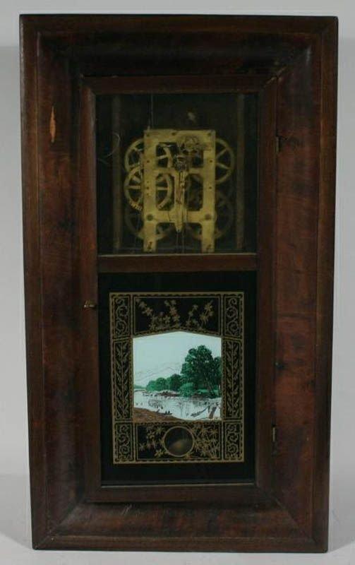 354: Chauncey Jerome Ogee Case Shelf Clock 30 hour