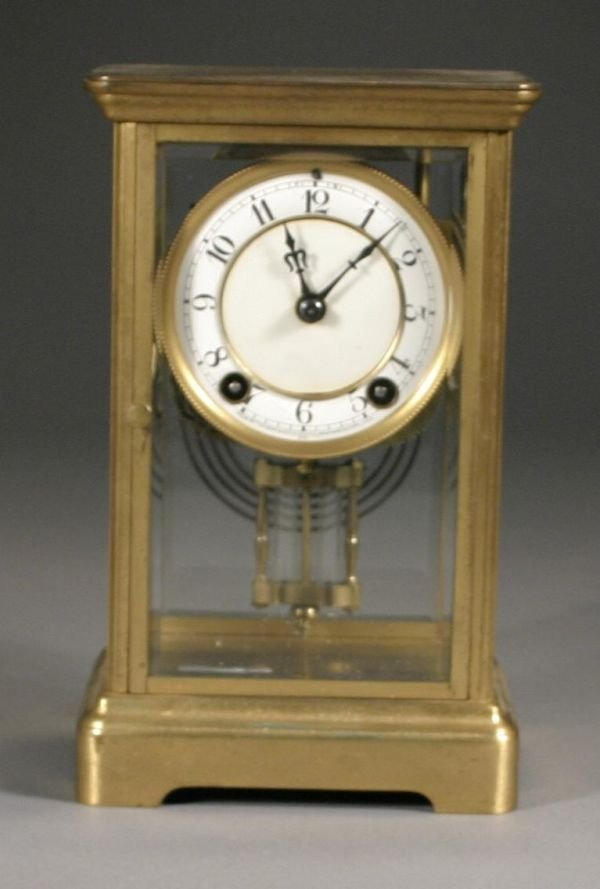 357: New Haven Crystal Regulator Mantle Clock