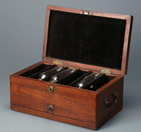 361: Mahogany Apothecary Box,Double Hinged