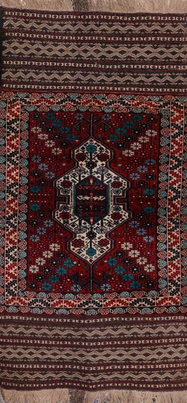 362: Afghan Baluchi carpet, hand knotted 100% wool