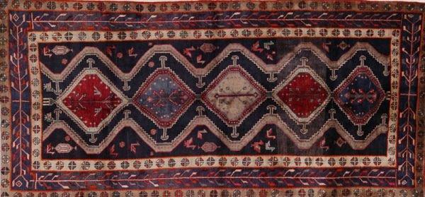 363: Persian Hamadan Runner, hand knotted 100% wool