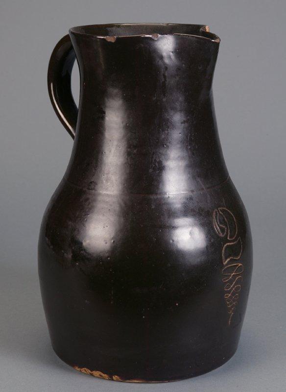 366: Alkaline glazed 2-gallon pitcher