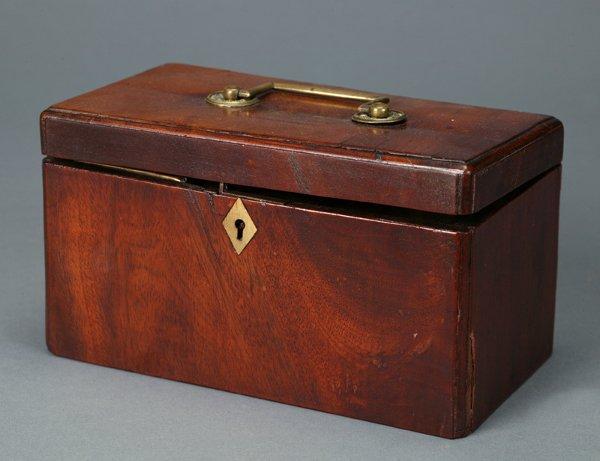536: Mahogany veneered tea caddy