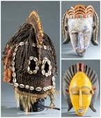 3 Bamana/Dogon Style Masks, Mali.