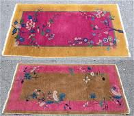 2 Chinese Art Deco rugs.