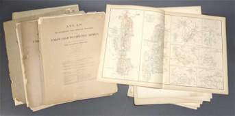 Group of 67 War of the Rebellion Atlas maps.