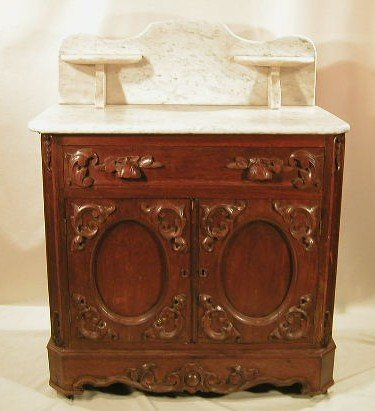 013: Renaissance revival marble top washstand