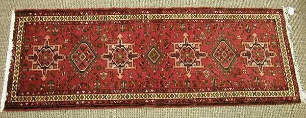 016: Persian hand knotted wool runner