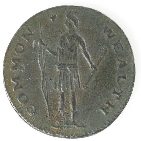 1: Massachusetts half penny, 19th C electrotype of 1787