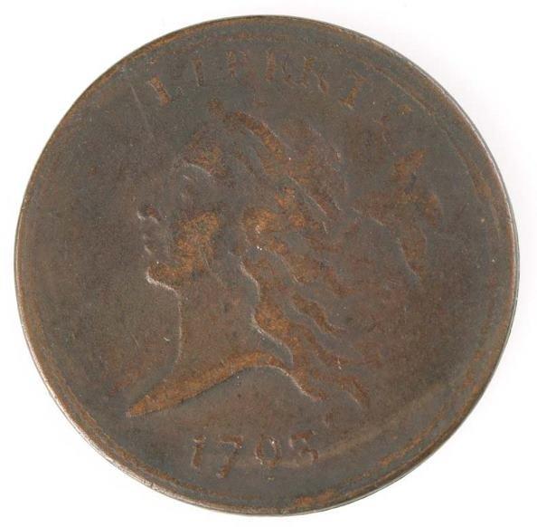 2: Liberty cap half cent, electrotype copy of 1793