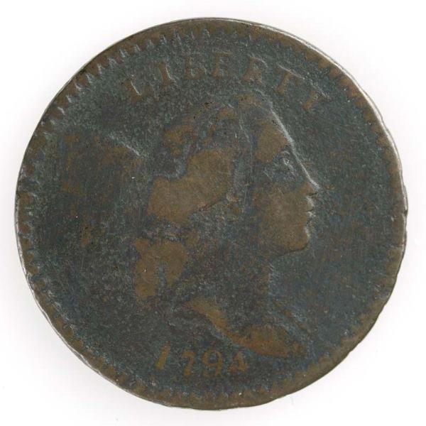 4: 1794 Half cent, Cohen 9, G/G.