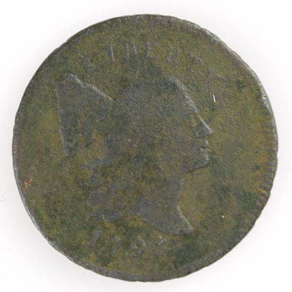 5: 1795 Half cent, Cohen 2a, G/VG.