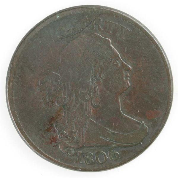 15: Two Half cents: 1806 Cohen 1, G+; 1806 Cohen 4.
