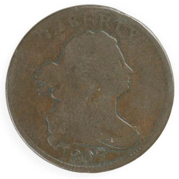 16: Two Half cents: 1807 Cohen 1, G/VG; 1808 Cohen 3,