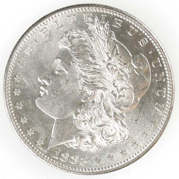 83: Morgan Dollar, 1883 S, BU.