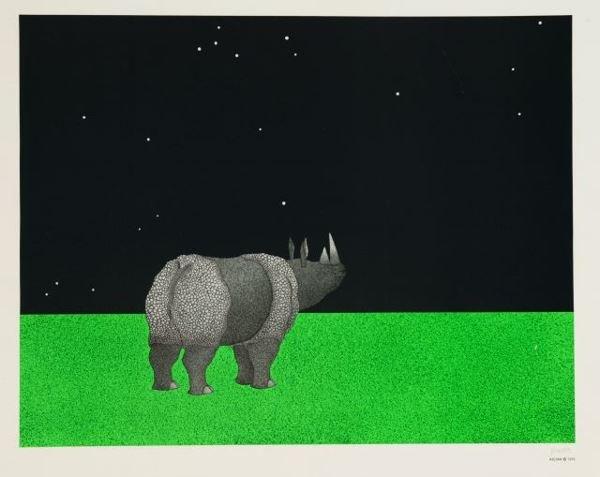 1003: Ascian [Jonathan Meader, b.1943]. Color lithograp
