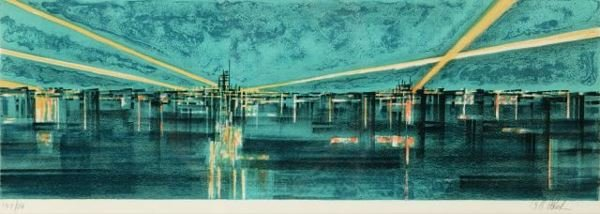 1009: Florsheim, Richard (Am. 1916-1979). Color litho