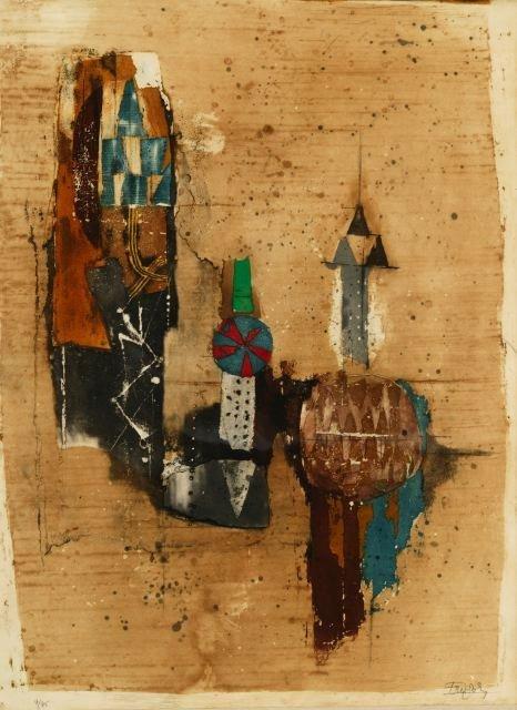 1010: Friedlaender, Johnny (Fr. b.1912). Color aquatint