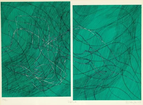 1011: Hayter, Stanley (1901-1988). Diptych. Color litho