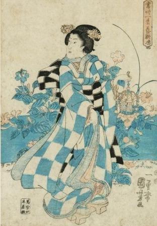 1023: Kuniyoshi, Utagawa (1797-1861). Color Woodblock