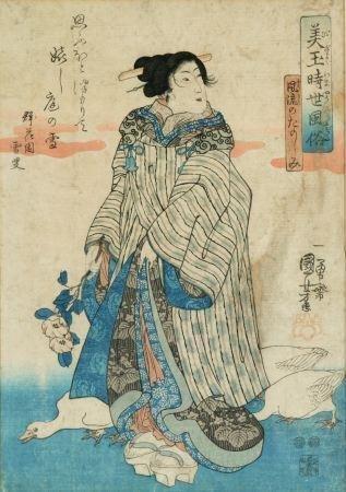 1024: Kuniyoshi, Utagawa (1797-1861). Color Woodblock