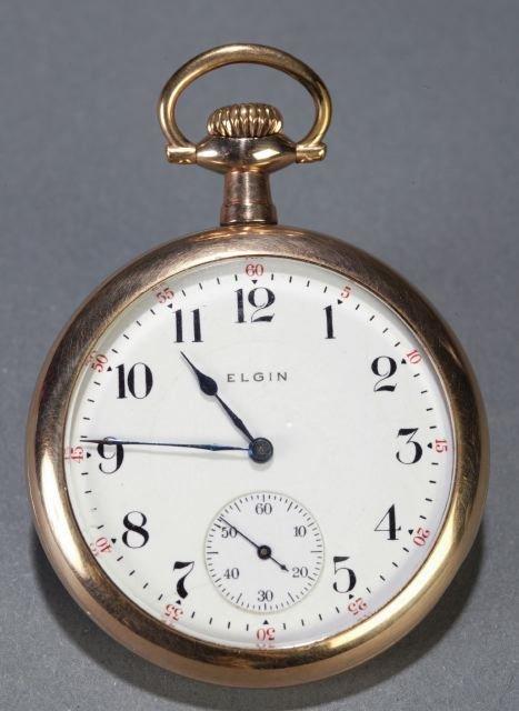 1: An Elgin Watch Co. size 16 railroad pocket watch