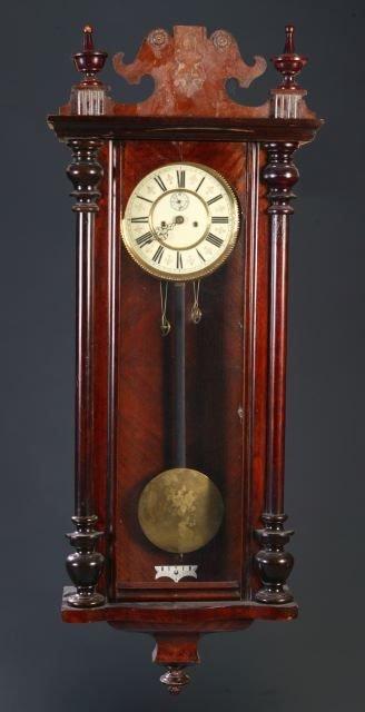6: Freiburg Vienna regulator 2 weight wall clock