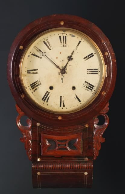 8: Rosewood case drop wall clock