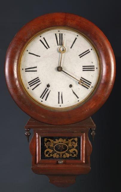 9: Seth Thomas, tear drop 8-day wall clock