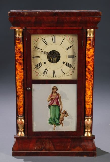 12: Seth Thomas, Thomaston, Split column shelf clock