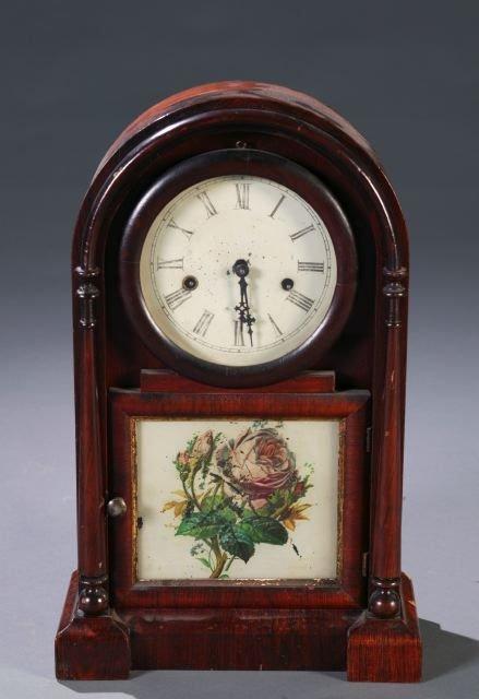 15: Ansonia rosewood case shelf clock, columns