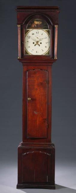 19: Georgian oak tall case clock, Burgess